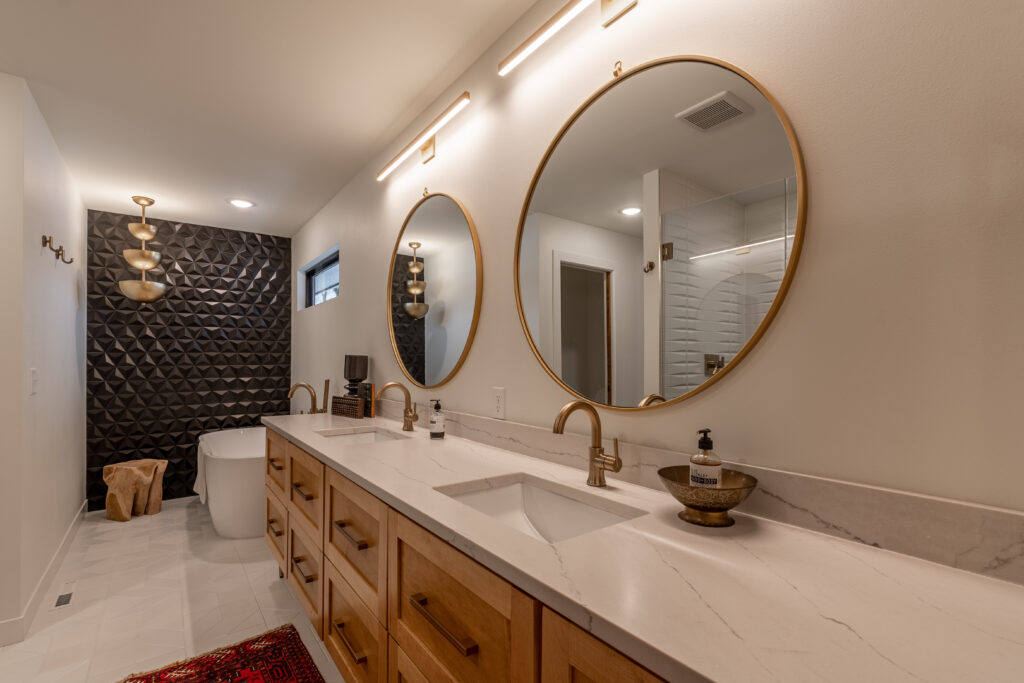 This is an image of remodeled bathroom sink.